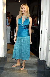 ALLEGRA HICKS at a party to launch the Acqualuna jewellery exhibition at Allegra Hicks, 28 Cadogan Place, London on 22nd June 2005.<br /><br />NON EXCLUSIVE - WORLD RIGHTS