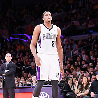 28 February 2014: Sacramento Kings small forward Rudy Gay (8) is seen during the Los Angeles Lakers 126-122 victory over the Sacramento Kings at the Staples Center, Los Angeles, California, USA.