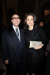 DR & MRS DAVID KHALILI he is the Iranian born scholar and philanthropist, at the London College of Fashion Show held at the Victoria & Albert Museum, Cromwell Road, London on 28th January 2010.