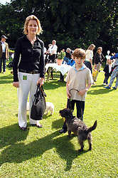 VISCOUNTESS LINLEY and her son CHARLES with their dogs Smudge and Shaggy at Macmillan Dog Day in aid of Macmillan Cancer Support, held at Royal Hospital Chelsea, London on 3rd July 2007.<br />