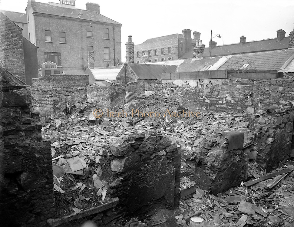 10/02/1953<br /> 02/10/1953<br /> 10 February 1953<br /> Views of the site of proposed Phibsboro Cinema (became the State Cinema) for O'Connor and Aylward Architects.