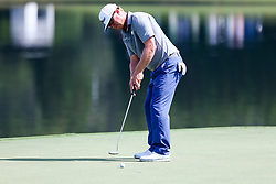 September 22, 2017 - Atlanta, Georgia, United States - Charley Hoffman putts the 15th green during the second round of the TOUR Championship at the East Lake Club. (Credit Image: © Debby Wong via ZUMA Wire)