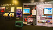 Interpretive display at the Jaggar Museum, Hawaii Volcanoes National Park, Hawaii USA