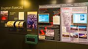 Interpretive display at the Jaggar Museum, Hawaii Volcanoes National Park, Hawaii USA