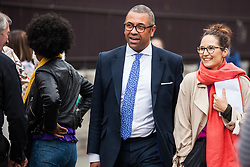 London, UK. 18 June, 2019. James Cleverly, Conservative MP for Braintree, arrives at Parliament.