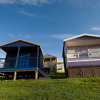 Beach huts, Tinkerton slopes, Whitstable, Kent