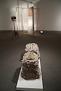 Caitlin Hettich<br /> Beneath Removable Stones<br /> Handmade paper, ceramics