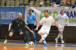 Angelo Schinina of Italy Denis Totoskovic of Slovenia during futsal friendly match between National teams of Slovenia and Italy, on December 3, 2019 in Maribor, Slovenia. Photo by Milos Vujinovic / Sportida