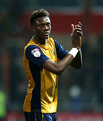 Tammy Abraham of Bristol City applauds the fans - Mandatory by-line: Matt McNulty/JMP - 17/01/2017 - FOOTBALL - Highbury Stadium - Fleetwood,  - Fleetwood Town v Bristol City - Emirates FA Cup Third Round Replay