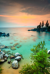 """Secret Cove Sunset 7"" - Sunset photograph taken at Secret Cove, Lake Tahoe."