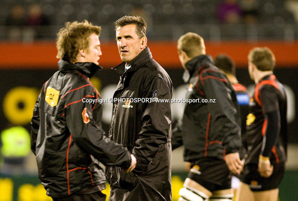 Canterbury coach Rob Penney during the team warm up. ITM Cup. Canterbury v Wellington at AMI Stadium, Christchurch. Friday 30 July 2010. Photo: Joseph Johnson/PHOTOSPORT