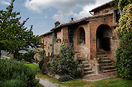 Italy, La Foce - A view of Belvedere house. This typical italian house is divided in two apartments that can be rented by groups or families that come to visit La Foce.<br /> Ph. Roberto Salomone