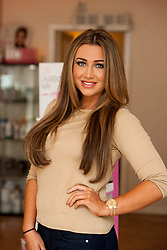 TOWIE star Lauren Goodger at Danielle Flores Hair & Beauty, 513 Duke Street, Glasgow.