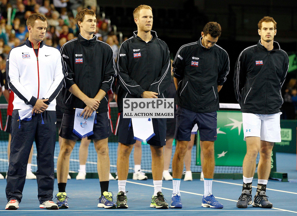 DAVIS CUP by BNP Paribas - GREAT BRITAIN v USA...Round 1 singles match between Andy Murray (GBR) and Donald Young (USA)..Opening ceremony...(c) STEPHEN LAWSON | SportPix.org.uk