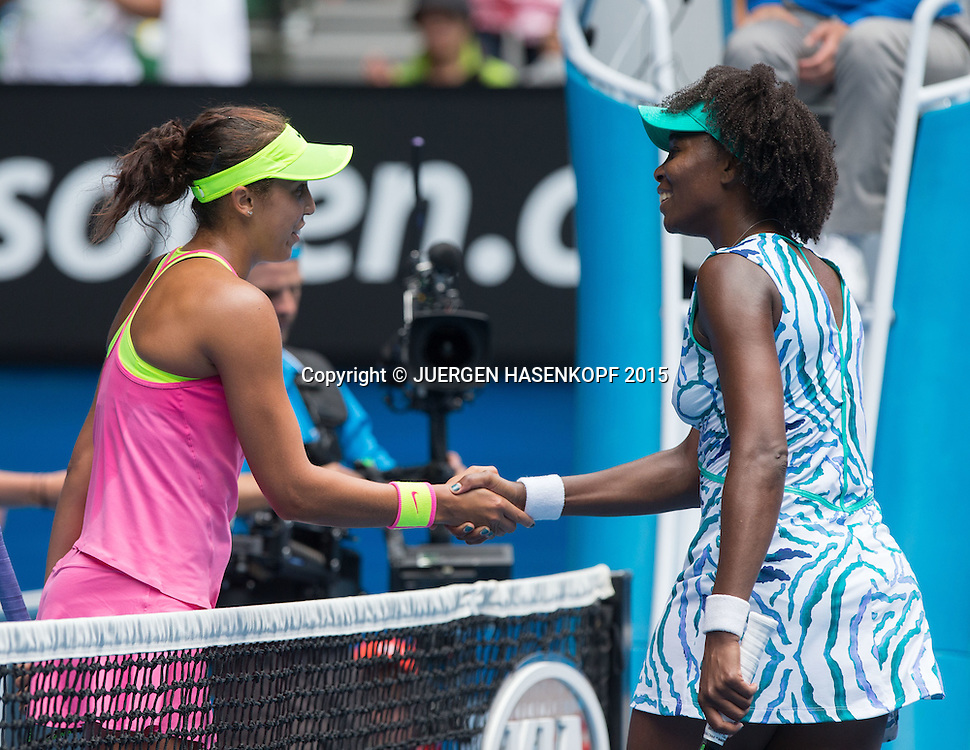 Madison Keys, Venus Williams USA)<br /> <br /> Tennis - Australian Open 2015 - Grand Slam ATP / WTA -  Melbourne Olympic Park - Melbourne - Victoria - Australia  - 28 January 2015.