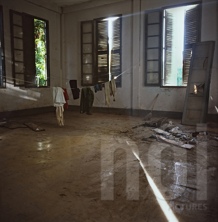 Abandoned Colonial House Bahrein Embassy Project Vientiane Laos Asia