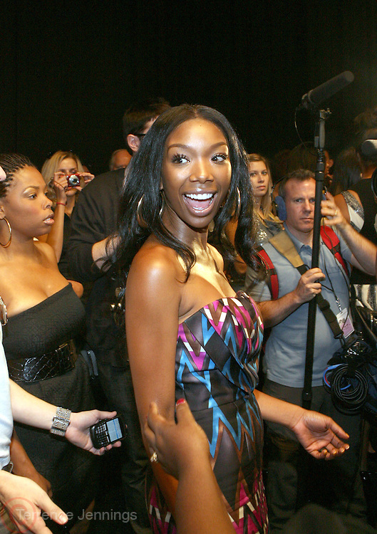 Brandy at The Tracey Reese Show at 2008 Mercedes-Benz Fashion Week held at the Promenade on September 6, 2008
