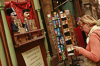 Lyon, France..the shop Disagn'Cardelli, a puppet and marionnette museum and boutique, including many  Gignols
