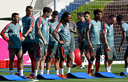 Bayern Munich's Franck Ribery (R) take part in the  winter training camp at the Aspire Academy of Sports Excellence in the Qatari capital Doha on January. 05, 2019. FC Bayern Munich will stay in the Doha until10 January 2019 (X?inhua/Nikku) (Credit Image: © Nikku/Xinhua via ZUMA Wire)