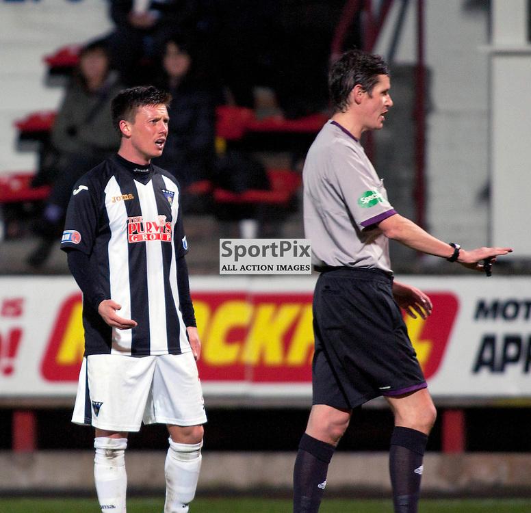 Joe Cardle (Dunfermline) Dunfermline v Dumbarton Scottish Division 1 Saturday 24 November 2012. (c) Russell Sneddon | StockPix.eu