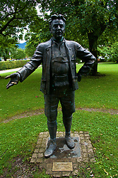 ROTTACH-EGERN, GERMANY - Wednesday, July 26, 2017: A statue of Leo Slezak in Rottach-Egern, the base for Liverpool's preseason training camp in Germany. (Pic by David Rawcliffe/Propaganda)