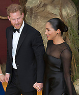 Meghan Markle & Prince Harry At Lion King 1'ere