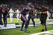 Houston Texans tight end Jordan Thomas (83) in action during the NFL week 8 regular season football game against the Miami Dolphins on Thursday, Oct. 25, 2018 in Houston. The Texans won the game 42-23. (©Paul Anthony Spinelli)
