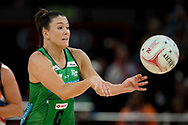 SYDNEY, AUSTRALIA - AUGUST 24: Verity Charles of the West Coast Fever passes the ball during the round 14 Super Netball match between the Giants and the West Coast Fever at Qudos Bank Arena on August 24, 2019 in Sydney, Australia.(Photo by Speed Media/Icon Sportswire)