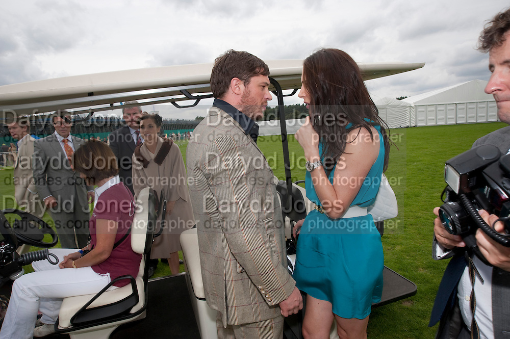 TOM HARDY, Cartier International Polo Day at the Guards Polo Club. Windsor. July 26  2009