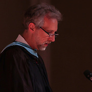 Red Lion Christian Academy Principal Mr. Samuel Osbourn addresses students during commencement exercise Friday, May 29, 2015, at Glasgow Church in Bear, Delaware.
