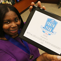 Jayla Price, 16, of Oxford won this year's North Mississippi Boys and Girls club Youth of Year Tuesday night.