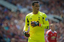MANCHESTER, ENGLAND - Saturday, August 8, 2015: Tottenham Hotspur's goalkeeper Michel Vorm in action against Manchester United during the Premier League match at Old Trafford. (Pic by David Rawcliffe/Propaganda)