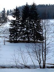 CZECH REPUBLIC VYSOCINA NEDVEZI 7MAR10 - Winter landscape near the village of Nedvezi, Vysocina, Czech Republic...jre/Photo by Jiri Rezac..© Jiri Rezac 2010