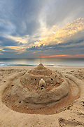 Sunrise sandcastle in Kitty Hawk, NC on the Outer Banks.