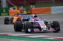 May 13, 2018 - Barcelona, Spain - Sergio Perez, team Force India, during the GP Spain F1, on 13th May 2018 in Barcelona, Spain. (Credit Image: © Joan Valls/NurPhoto via ZUMA Press)