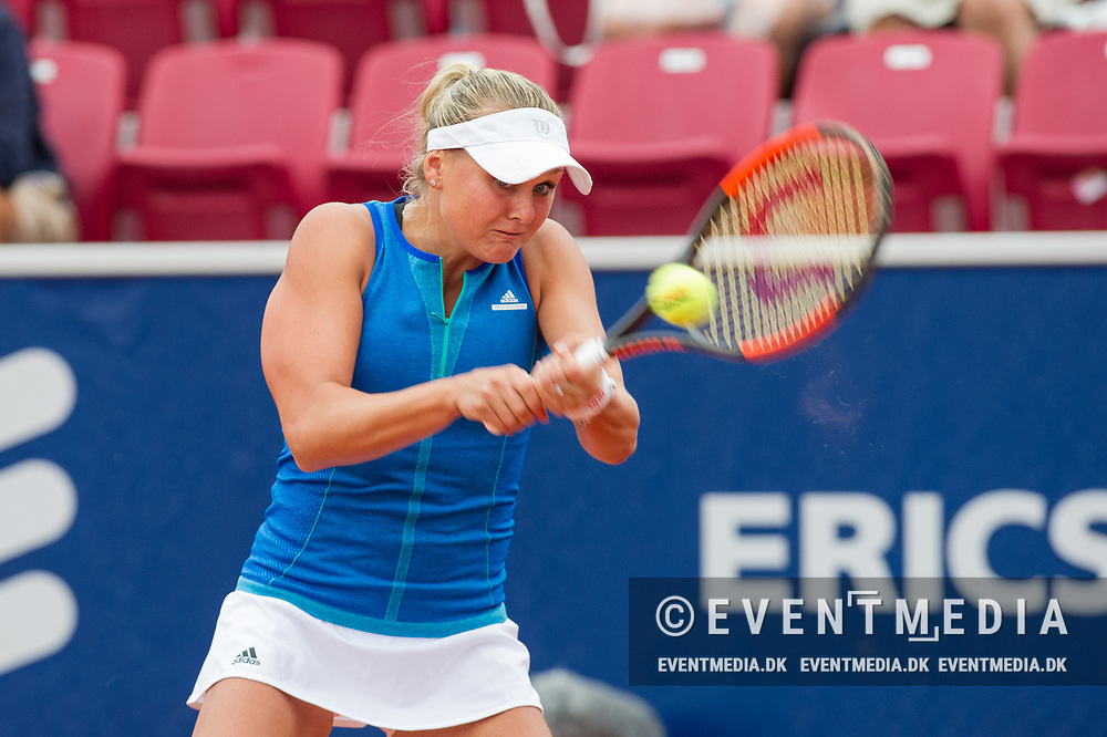 Kateryna Kozlova (Ukraine) at the 2017 WTA Ericsson Open in Båstad, Sweden, July 27, 2017. Photo Credit: Katja Boll/EVENTMEDIA.
