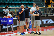 Sacchetti Romeo, Massimo Maffezzoli,Paolo Conti<br /> Nazionale Senior maschile<br /> Allenamento<br /> World Qualifying Round 2019<br /> Bologna 13/09/2018<br /> Foto  Ciamillo-Castoria / M. Longo