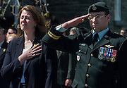 Widow Marley Leger (L), wife of Canadian<br />