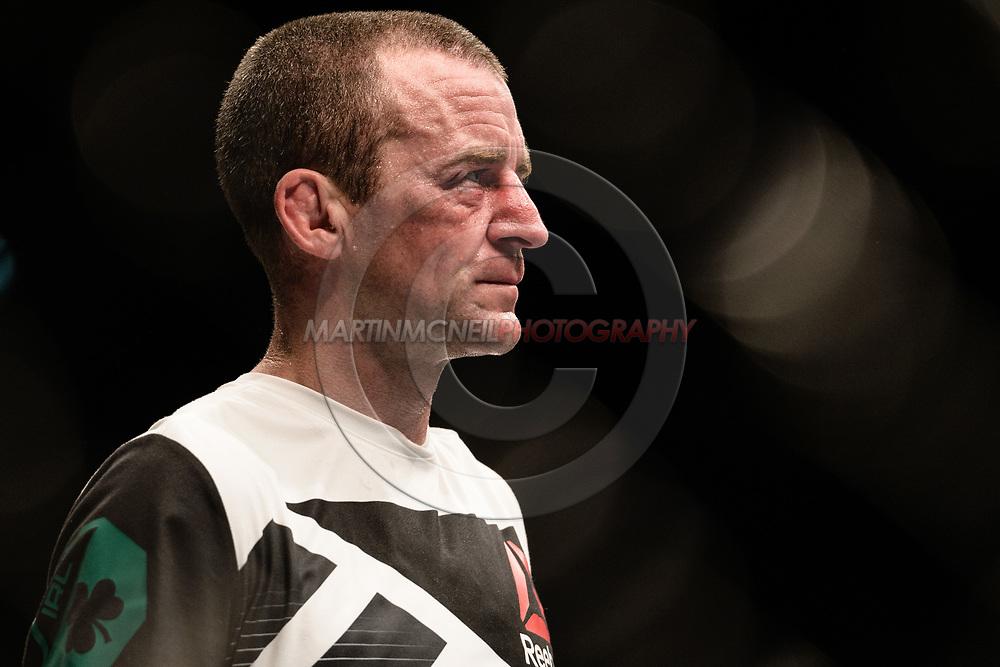 "GLASGOW, UNITED KINGDOM, JULY 16, 2017: Neil Seery during ""UFC Fight Night Glasgow: Nelson vs. Ponzinibbio"" inside the SSE Hydro Arena in Glasgow, Scotland on Sunday, July 16, 2017."