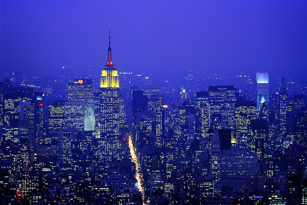 Empire State Building from World Trade Center.<br />