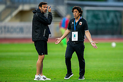 Roberto Andres Yllana of Tabor Sezana and Mauro Camoranesi, head coach of Tabor during football match between NK Domzale and NK CB24 Tabor Sezana in 31st Round of Prva liga Telekom Slovenije 2019/20, on July 3, 2020 in Sports park, Domzale, Slovenia. Photo by Vid Ponikvar / Sportida