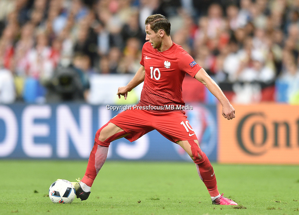 2016.06.16 Saint-Denis<br /> Football UEFA Euro 2016 group C game between Poland and Germany<br /> Grzegorz Krychowiak<br /> Credit: Lukasz Laskowski / PressFocus