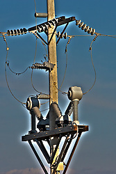 17 April 2012:   Electricity Transmission equipment...This image was produced in part utilizing High Dynamic Range (HDR) processes.  It should not be used editorially without being listed as an illustration or with a disclaimer.  It may or may not be an accurate representation of the scene as originally photographed and the finished image is the creation of the photographer. This image was produced in part utilizing High Dynamic Range (HDR) or panoramic stitching or other computer software manipulation processes. It should not be used editorially without being listed as an illustration or with a disclaimer. It may or may not be an accurate representation of the scene as originally photographed and the finished image is the creation of the photographer.