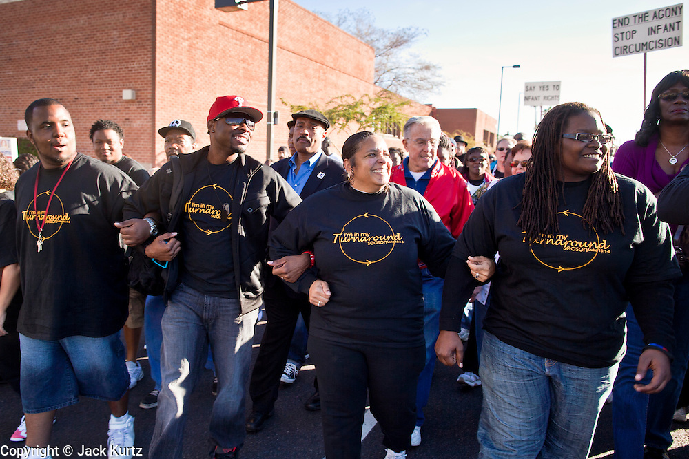 17 JANUARY 2011 - PHOENIX, AZ: People participate in the annual Martin Luther King Day march in Phoenix, AZ. About 500 people participated the Martin Luther King Jr March through downtown Phoenix, Monday, Jan. 17. PHOTO BY JACK KURTZ