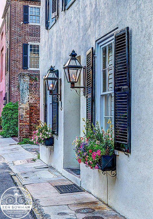 Charleston gas lamp series #3 blue.