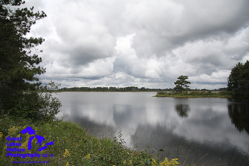 Storm clouds roll into the Seney National Wildlife Refuge from the west.