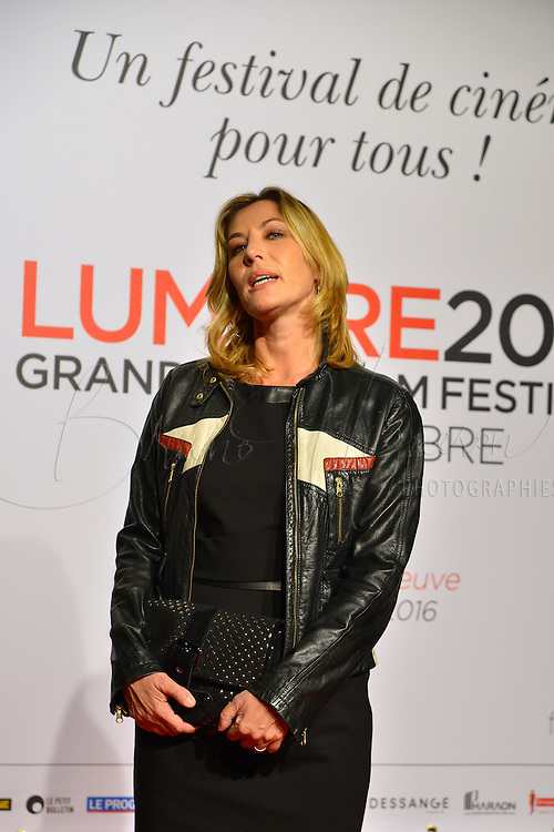 Mathilde Seigner<br /> Lyon 8 oct 2016 - Festival Lumi&egrave;re 2016 - C&eacute;r&eacute;monie d&rsquo;Ouverture<br /> 8th Film Festival Lumiere In Lyon : Opening Ceremony