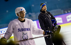 Nik Zupancic, head coach of Slovenia during practice session of Team Slovenia at the 2017 IIHF Men's World Championship, on May 11, 2017 in AccorHotels Arena in Paris, France. Photo by Vid Ponikvar / Sportida