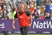 Peter Moores before the NatWest T20 Blast Quarter Final match between Notts Outlaws and Somerset County Cricket Club at Trent Bridge, West Bridgford, United Kingdom on 24 August 2017. Photo by Simon Trafford.