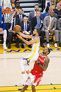 Golden State Warriors guard Stephen Curry (30) takes the ball to the basket against the Houston Rockets during Game 6 of the Western Conference Finals at Oracle Arena in Oakland, Calif., on May 26, 2018. (Stan Olszewski/Special to S.F. Examiner)
